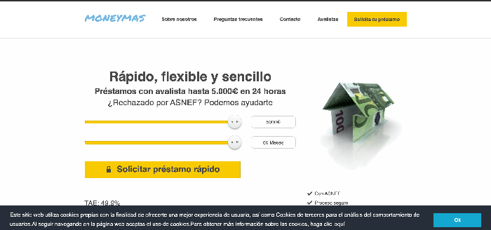 MONEYMAS opiniones de clientes y alternativas