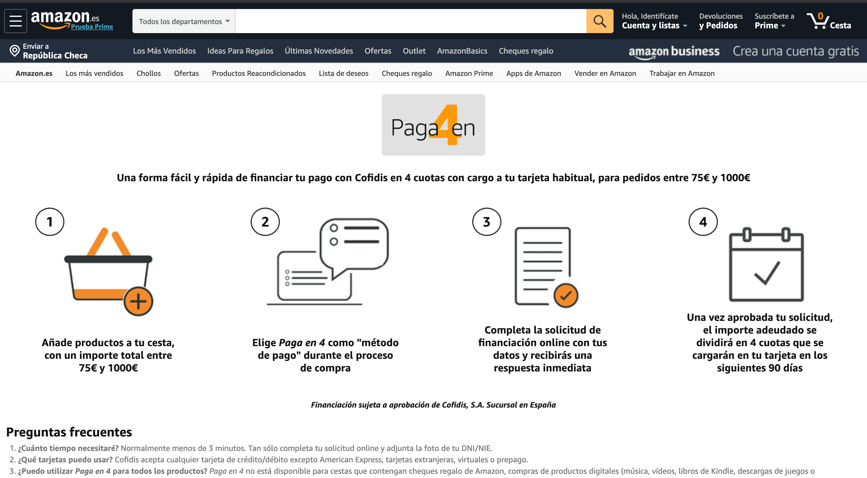 Amazon Financiación